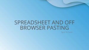 Use Spot N Paste to Paste into Spreadsheets