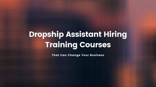 Hiring Dropship Assistant Courses